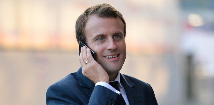 Le président Macron piégé par deux humoristes russes ?