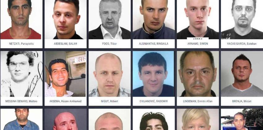 Liste des fugitifs les plus recherchés par Europol