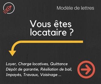 modèle de lettre pour locataire