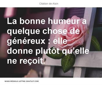 Citation de Alain