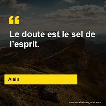 Citations Alain