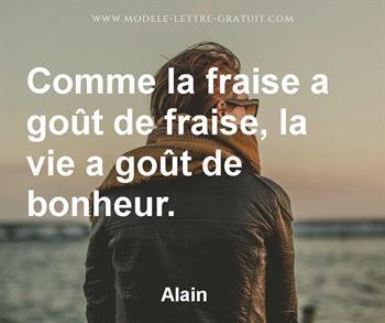 Citation de Alain