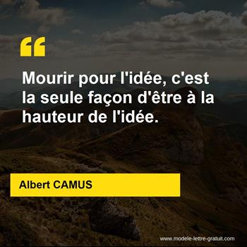 Citations Albert CAMUS