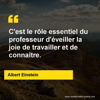 Citation de Albert Einstein