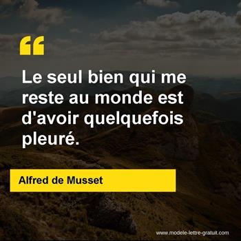 Citation de Alfred de Musset