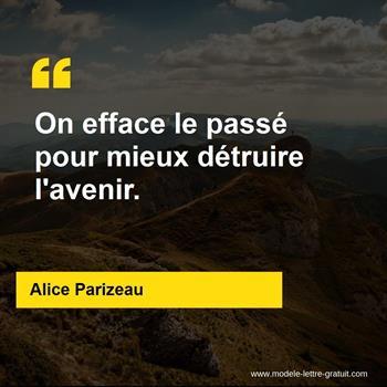 Citations Alice Parizeau