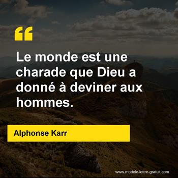 Citations Alphonse Karr