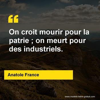 Citations Anatole France