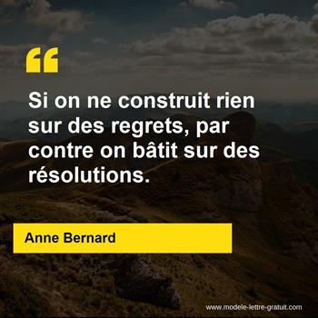 Citations Anne Bernard