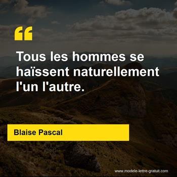 Citations Blaise Pascal