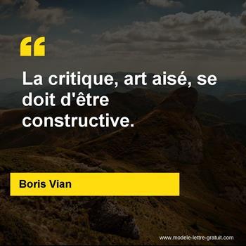 La Critique Art Aisé Se Doit D être Constructive