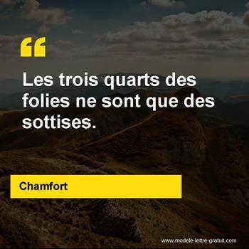 Citations Chamfort