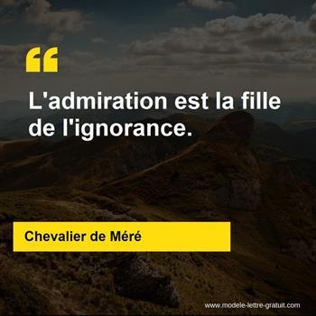 Citations Chevalier de Méré