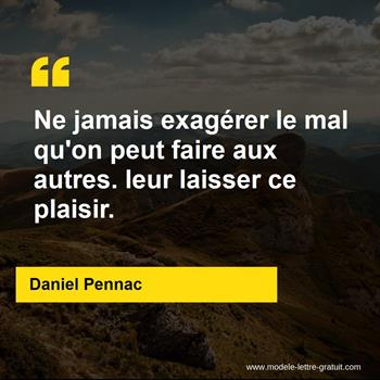 Citations Daniel Pennac