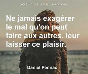 Citation de Daniel Pennac