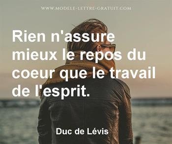 Citation de Duc de Lévis
