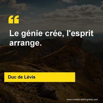 Citations Duc de Lévis