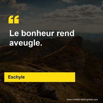 Citations Eschyle