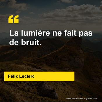Citations Félix Leclerc