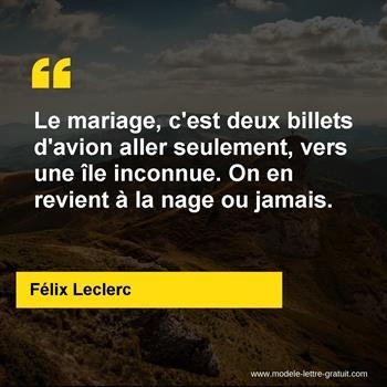 Citations Félix Leclerc