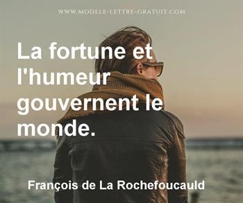 Citation de François de La Rochefoucauld