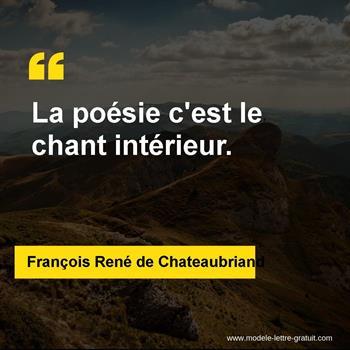 Citations François René de Chateaubriand
