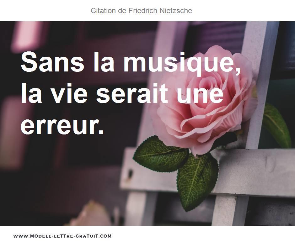 Citation Nietzsche Musique : Friedrich wilhelm nietzsche citations la vache rose