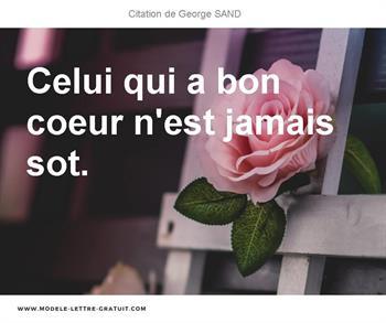 Citation de George SAND