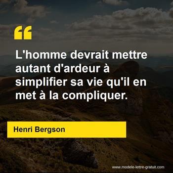 Citations Henri Bergson
