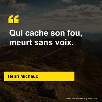 Citations Henri Michaux