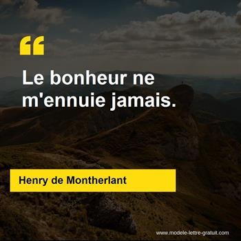 Citations Henry de Montherlant