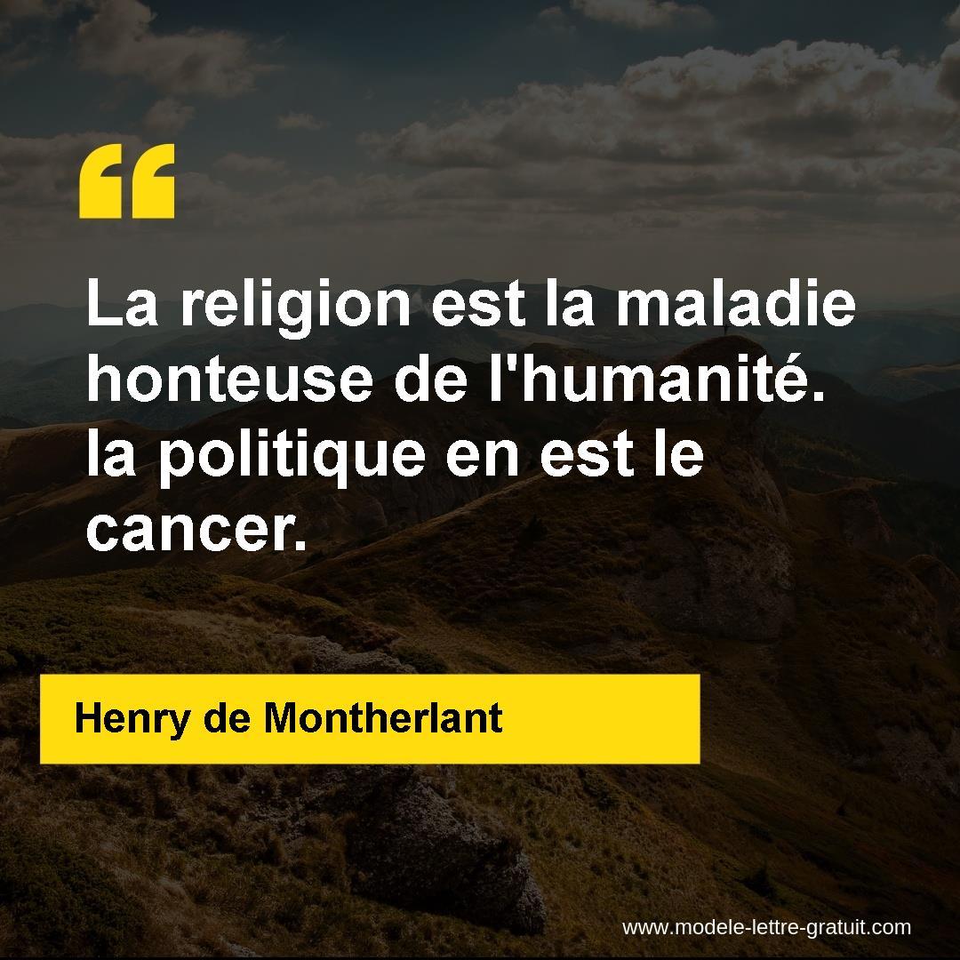 La Religion Est La Maladie Honteuse De L Humanité La