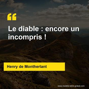 Citations Henry de Montherlant