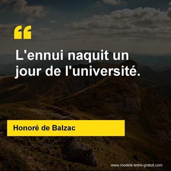 Citations Honoré de Balzac