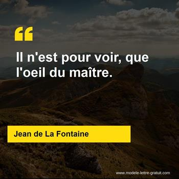 Citations Jean de La Fontaine