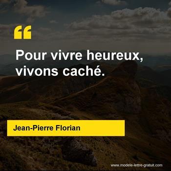 Citations Jean-Pierre Florian