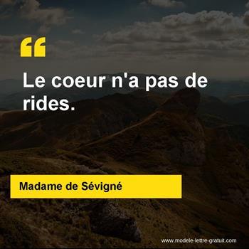 Citations Madame de Sévigné