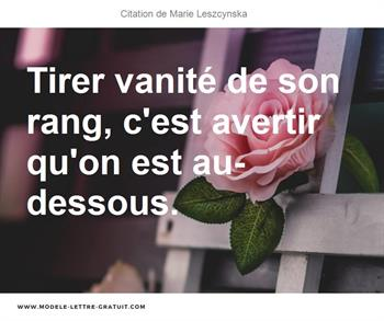 Citation de Marie Leszcynska
