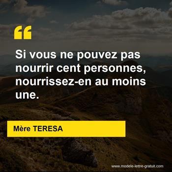 Citations Mère TERESA