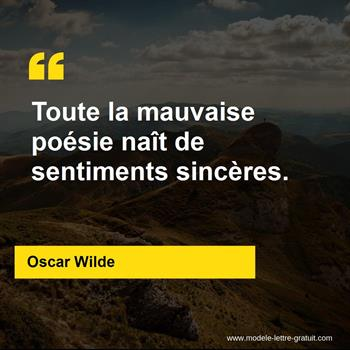 Citation de Oscar Wilde