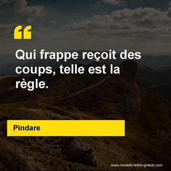 Citations Pindare