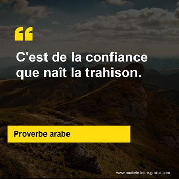 Proverbe Arabe