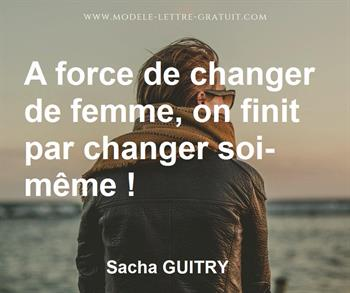 Citation de Sacha GUITRY