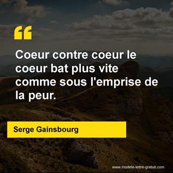 Citation de Serge Gainsbourg