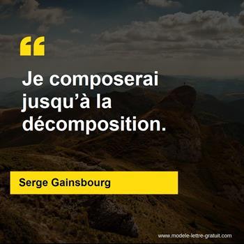 Citations Serge Gainsbourg