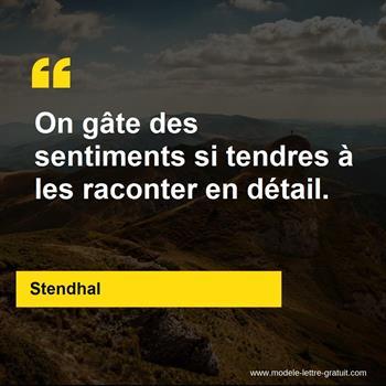 Citations Stendhal