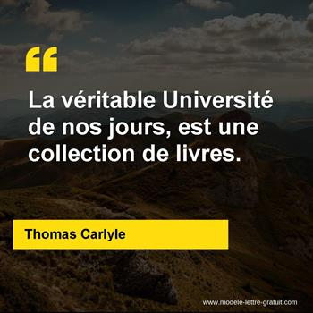 Citations Thomas Carlyle