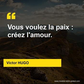 Citations Victor HUGO