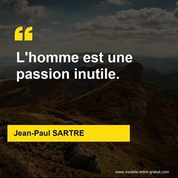 Citations Jean-Paul SARTRE