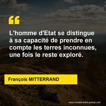 Citation de François MITTERRAND